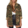 Winter Spring Fashion Army Green Camouflage Bomber Jacket women basic coats Military Jackets for Women Coat Plus Size
