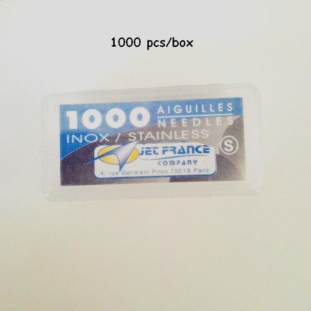 0.35X31mm Высокий Класс Профессионального Aiguilles Jet Франция Свободные Татуировки Иглы 1000 Шт./упак.