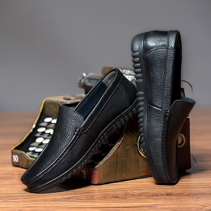 Mocassins Qualidade Sobre Marca Livre Genuíno brown Sapatas Para Homens Luxo Deslizar P4 Ar Ao Black De Dos Couro Casuais Alta Sapatos Italianos FqF6pWOP