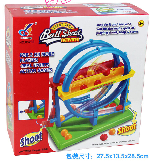 Plastic toy baby birthday gift ball shoot desktop funny game family fun parent-child interactive educational