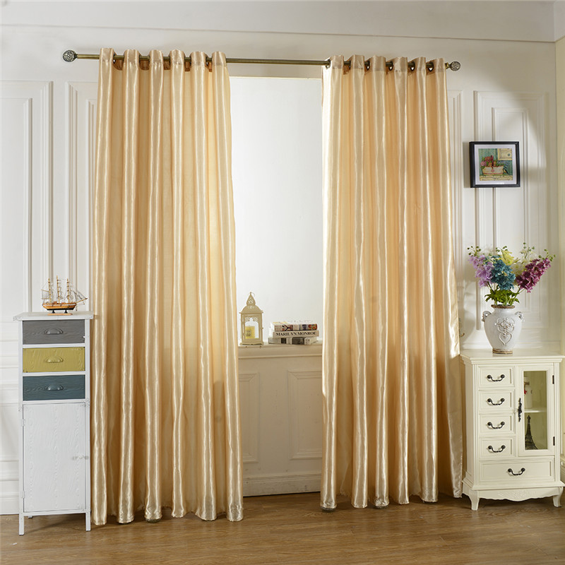 1pc Black Out Window Curtain Living Room Door Home/Hotel/Office Built-in Curtain