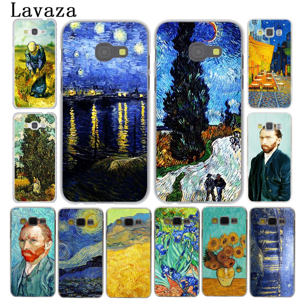 Lavaza Vincent Willem van Gogh Tardis Phone Case for Samsung Galaxy A3 A7 A8 A5 2015 2016 2017 2018 Note 8 5 4 3 Grand Prime 2