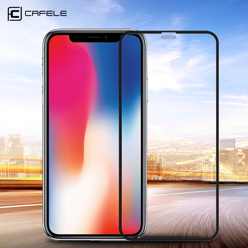 CAFELE Full Coverage Glass For iPhone XS Max 4D Tempered Glass Screen Protector For iPhone XSMax Scratch Proof Ultra-thin