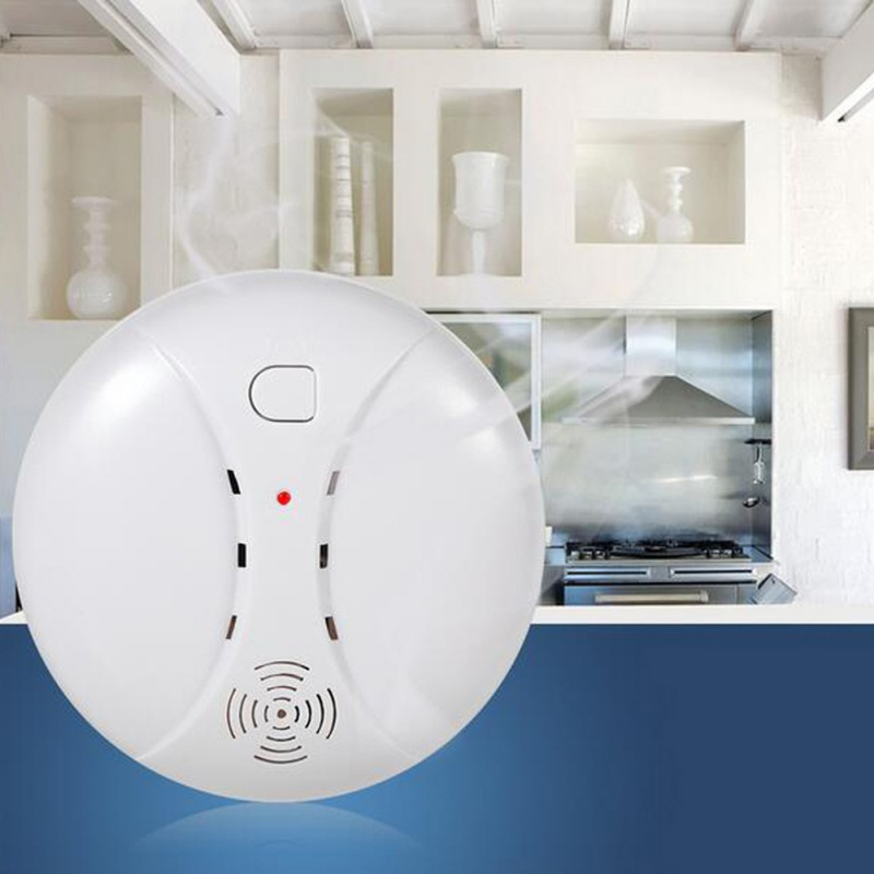 9V Level 2 433MHz Wireless Sensor Fire Protection Smoke Detector for WIFI GSM PSTN Office Security Alarm Systems for Room