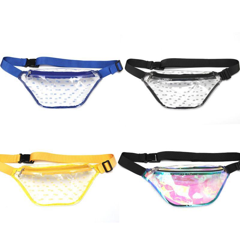 LXFZQ 2019 New Sac Banane Femme Women Transparent Waist Bags Fashion PVC Transparent Fanny Pack Women Waist Bags Holographic