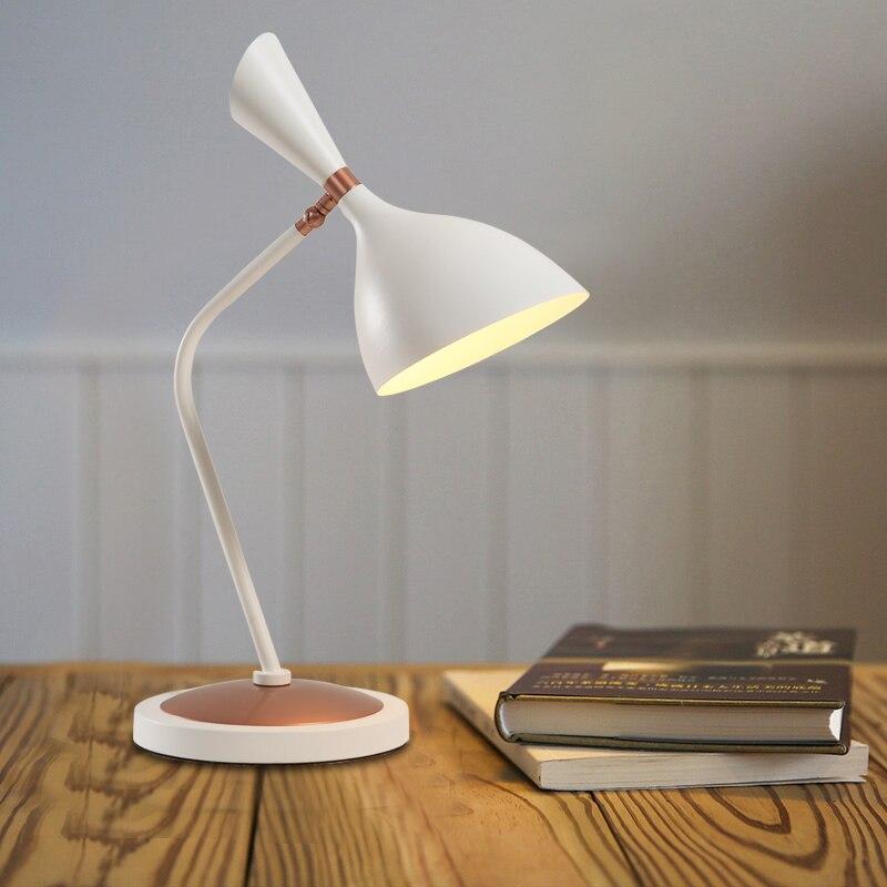 Nordic Modern Table Lamps E27 Student desk lamp Loft Art Table Bedside Light For Bedroom Living Room light fixtures lighting