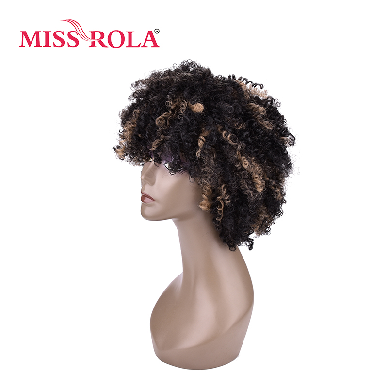 Miss Rola Bloom Curly Synthetic Wigs Sp1b27 5inch Stripes Color