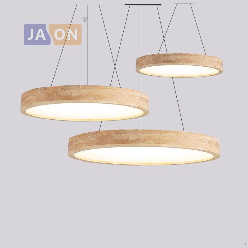 LED moderne bois fer acrylique 2 en 1 rond 6cm mince lampe à LED. Lumière LED lampes suspendues. Suspension lampe. Suspension pour chambre Foyer