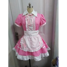 Kobiety Maid strój słodki Gothic Lolita sukienki Anime K ON! Cosplay kostium fartuch sukienka mundury Plus Size kostiumy na Halloween