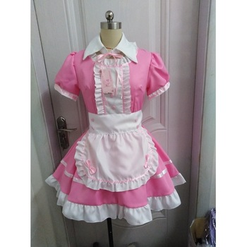 Women Maid Outfit Sweet Gothic Lolita Dresses Anime K-ON! Cosplay Costume Apron Dress Uniforms Plus Size Halloween Costumes