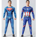 Camisa de compressão de flash 3d impressos camisetas homens raglan manga longa superman flash traje cosplay clothing tops de fitness masculino