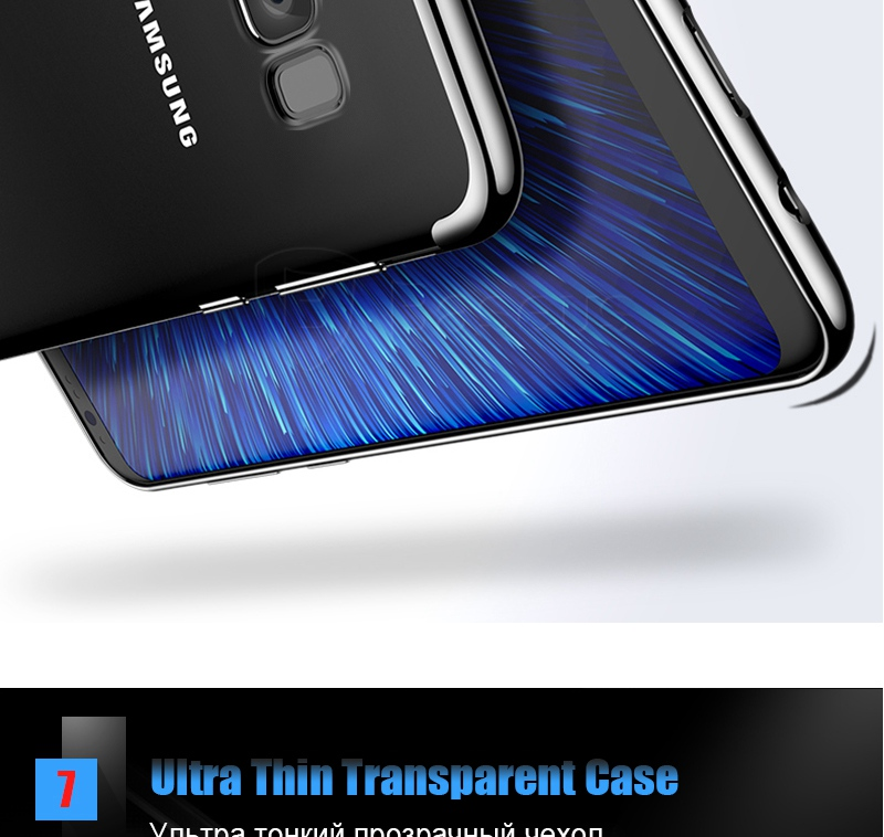 Baseus Transparent Case For Samsung Galaxy S8 Cases 360 Electroplating Hard Plastic Shell Cases For Galaxy S8 S8 Plus Case (9)