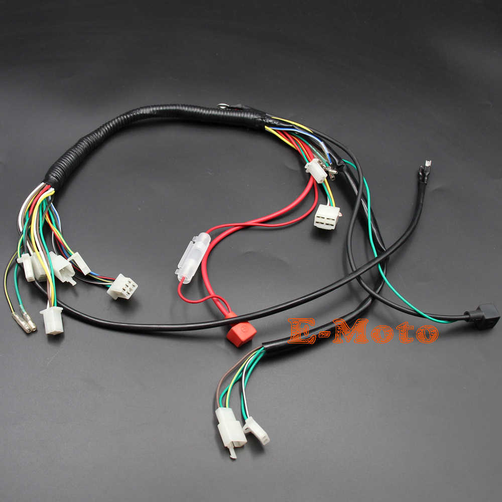 Wiring Harness Loom Solenoid Coil Rectifier CDI 50 70 90 110 125cc ...