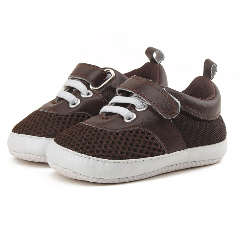 2017 Baby Shoes Newborn Boy Anti-skid Soft Sole First Walkers Toddler Infant Casual Snea ...