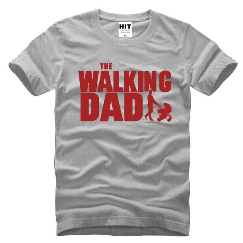 و المشي أبي الآباء هدية عيد الرجال مضحك تي شيرت تي شيرت الرجال 2016 جديد قصير الأكمام القطن الجدة الأعلى المحملة camisetas hombre