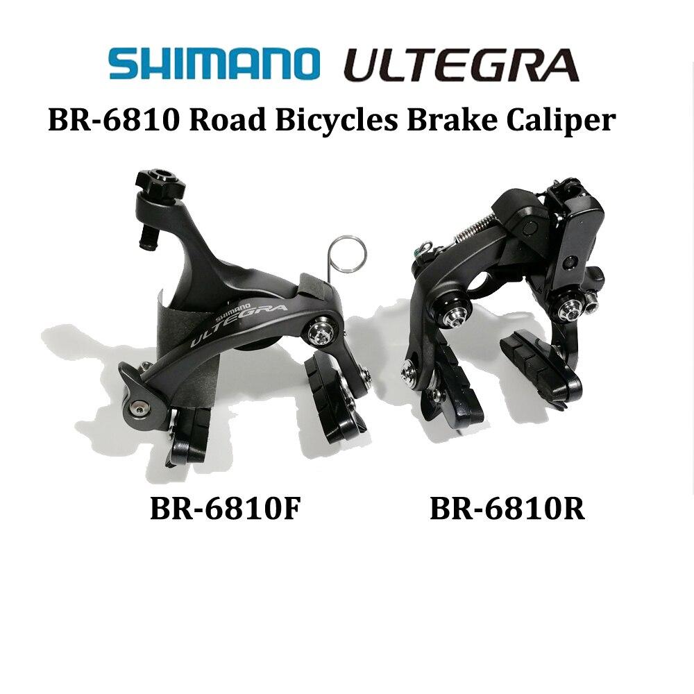 V frein Shimano ultegra 6810F/R frein de vélo de route double pivot en aluminium côté étrier traction avant et arrière avec plaquettes de frein