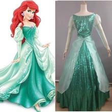 Custom Made New 2015 Fantasia Halloween Wedding Party Little Princess Ariel Dress Women Adult Mermaid Costume
