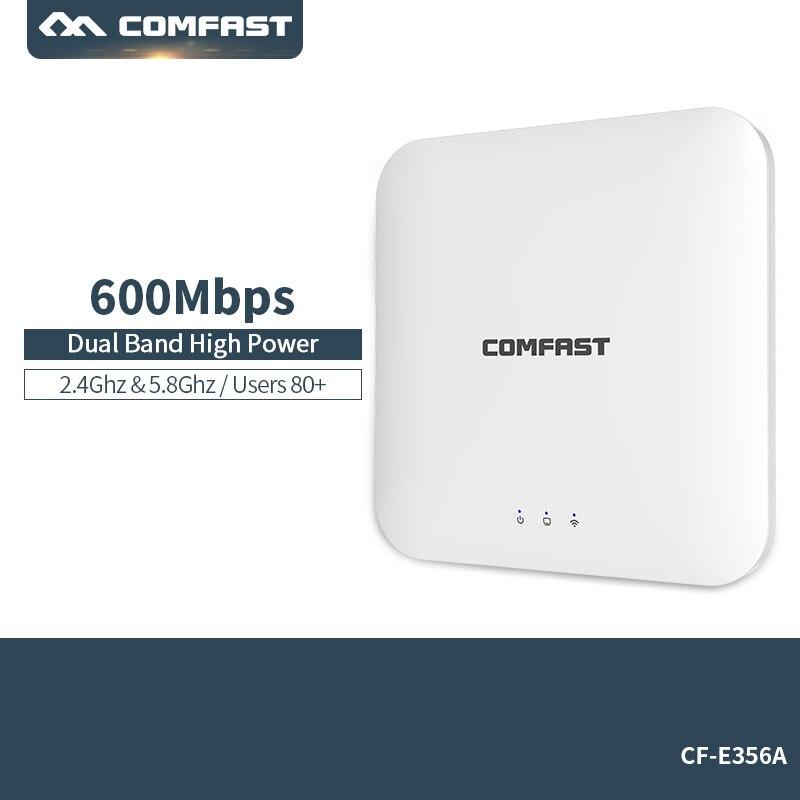 802.11ac 2.4g & 5.8g Dual Band 600 Mbps Montage Au Plafond PoE WiFi AP Routeur Sans Fil Point D'accès- poE Adaptateur 4 * 2dbi antenne À L'intérieur
