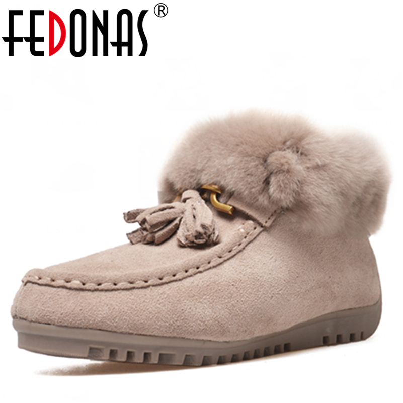 FEDONAS Fashion Women Suede Ankle Boots Warm Plush Winter Snow Boots Comfortable Flats Heels Martin Shoes Woman For Ladies Boots nemaone 2017 gladiator snow boots women flats heels half short boot ladies warm plush winter boots leisure shoes woman