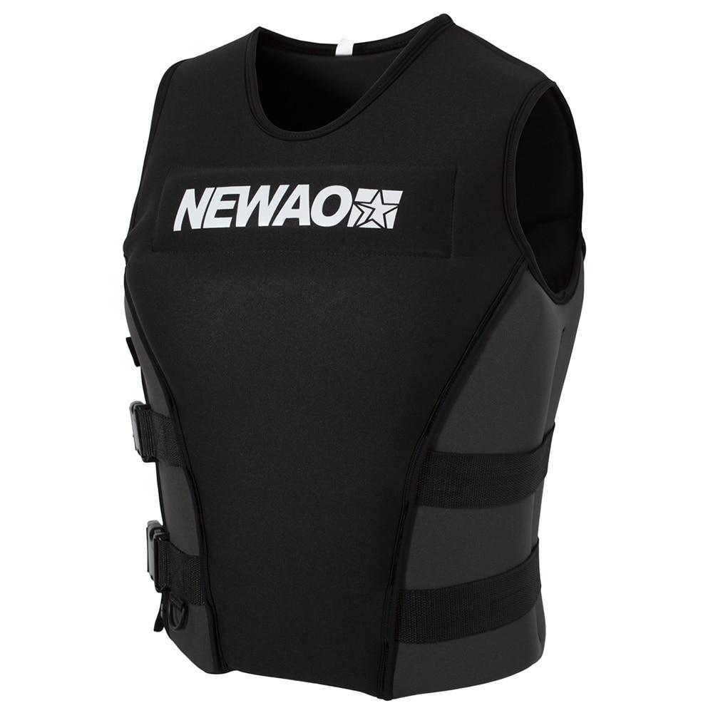 Профессиональная Спасательная куртка для взрослых, спасательный жилет из неопрена для водного катания на лыжах, спасательный Вейкборд, рыб...