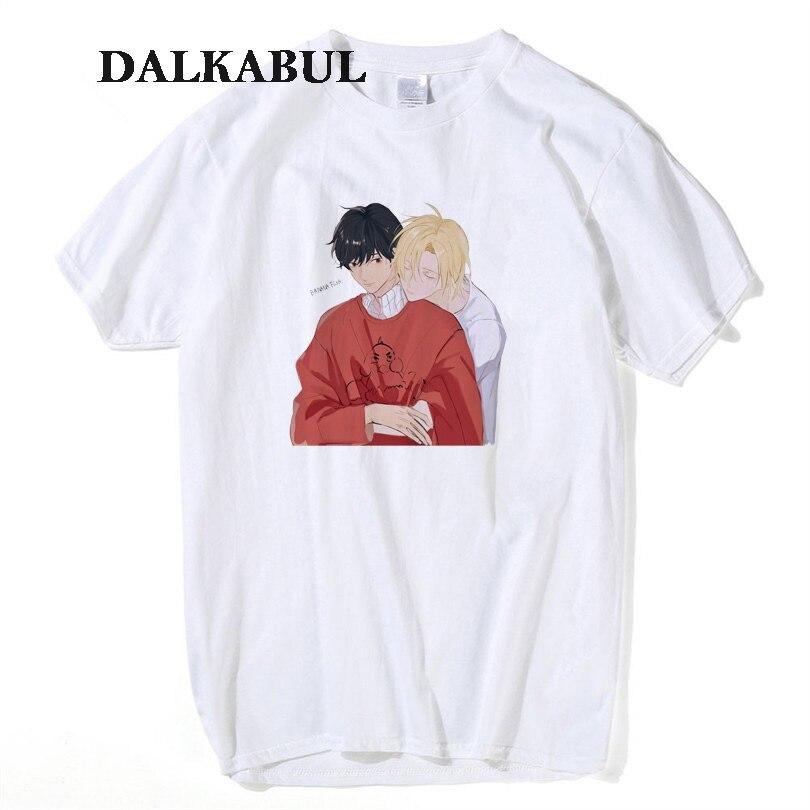 Men's Clothing Amiable Banana Fish T Shirt Men Aslan Jade Callenreese T-shirt Women Short Sleeve Gay Couple Cartoon Japanese Anime Ash He Funny Tees Packing Of Nominated Brand
