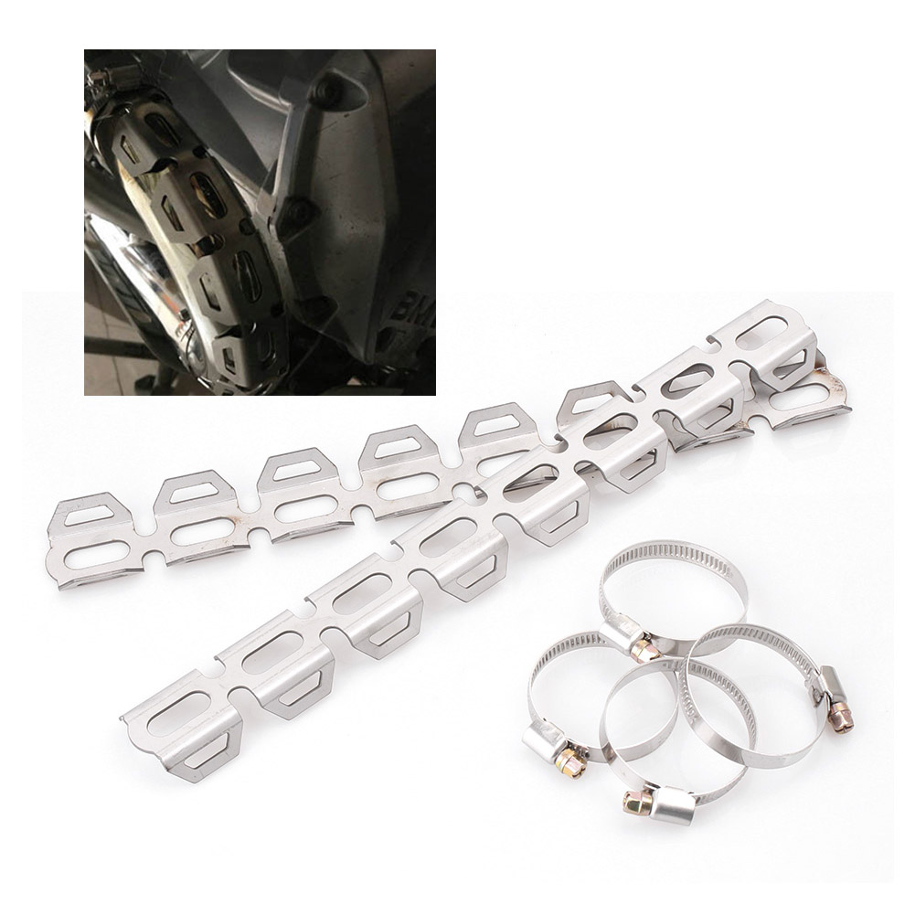 Motorcycle Exhaust Header&Pipe Guards Prorect Cover For BMW F800GS F700GS F650GS Stainless Steel Motorbike Parts