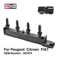 COWTOTAL Ignition Coil 597075 for Peugeot 206 307 406 407 807 Citroen C5 C8 Dispatch Xsara Picasso Synergie FIAT Scudo Ulysse