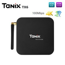 Tanix TX6 TV Box Allwinner H6 4 GB DDR3 + 32 GB EMMC 2,4 GHz + 5,8 GHz WiFi BT5.0 soporte 4 K H.265 100 Mbps para Android 7,0 Set Top Box