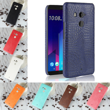 For HTC U11 Plus Luxury Crocodile PU Leather Skin Hard PC Back Cover protective Phone Case For HTC U11+ Cover for HTC 2Q4D200