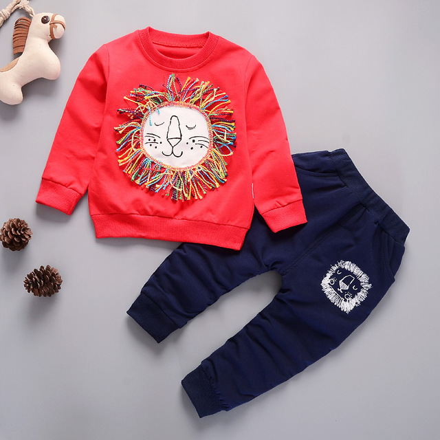0f3b1afac4ef US $9.99 21% OFF|2018 New Spring long sleeves children clothing set boys  sport suit girls 2pcs clothes shirt and pants 0 5 years old HJL010801-in ...