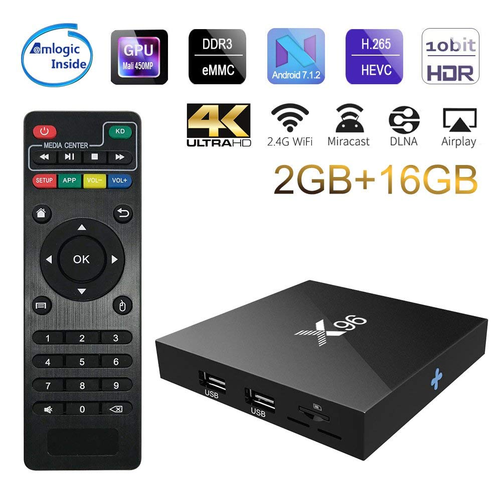 2018X96 Android 7.1 TV Box WiFi S905W top tv box android 2 gb ram Quad-Core-Set-top-Box tvbox 4 karat Media Player X 96 set-top box
