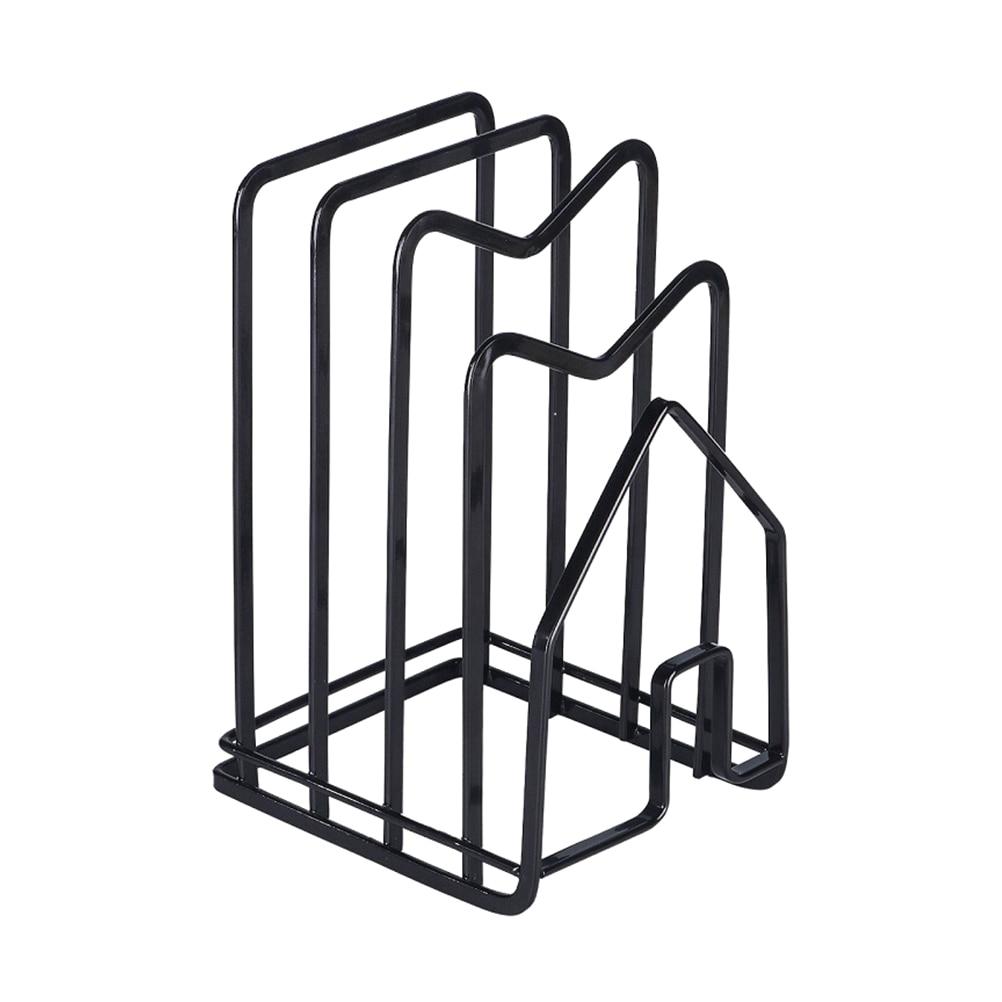 Image 5 - 1 шт. стеллаж для хранения практичный полезный органайзер для разделочной доски полка держатель для крышки горшка Органайзер стойка для домашнего кухонного магазинаПодставки для хранения и стеллажи   -
