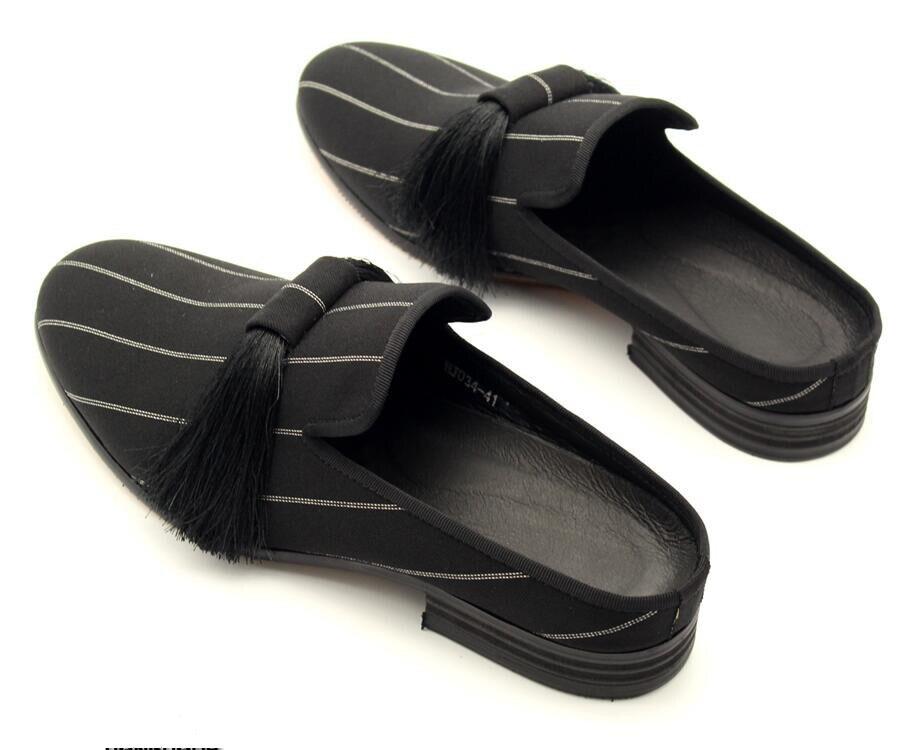 Pic Mode Conduite Glands Conception Fumer Noir 2018 Hommes Rayé De Mules Chaussures Pantoufles As qRWncaOfg