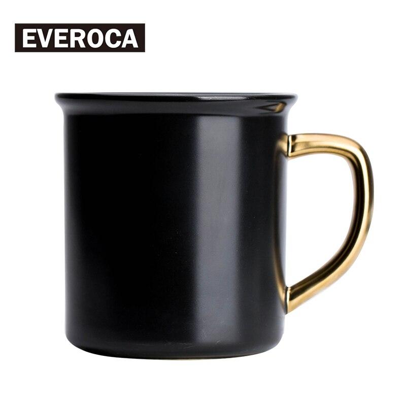 Stoneware Black Gloden Mug Ceramic Coffee Mug Porcelain Milk Office Mug Sugar lemonade