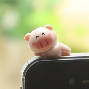CatXaa Cartoon Animal 3.5mm Earphone Dust Plug Bear Pig Panda 3.5 AUX Audio Port Jack Stopper for Notebook Mobile Phone Huawei