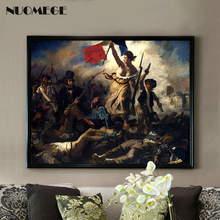 Canvas Art Print Liberty Leading the People World Famous Painting Modern Home Wall Picture Poster Decor No frame