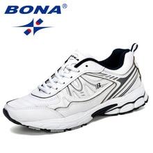 بونا 2019 جديد الكلاسيكية الرجال احذية الجري في الهواء الطلق أحذية رياضية Zapatos خفيفة الوزن مريحة رياضية الذكور رياضية العصرية