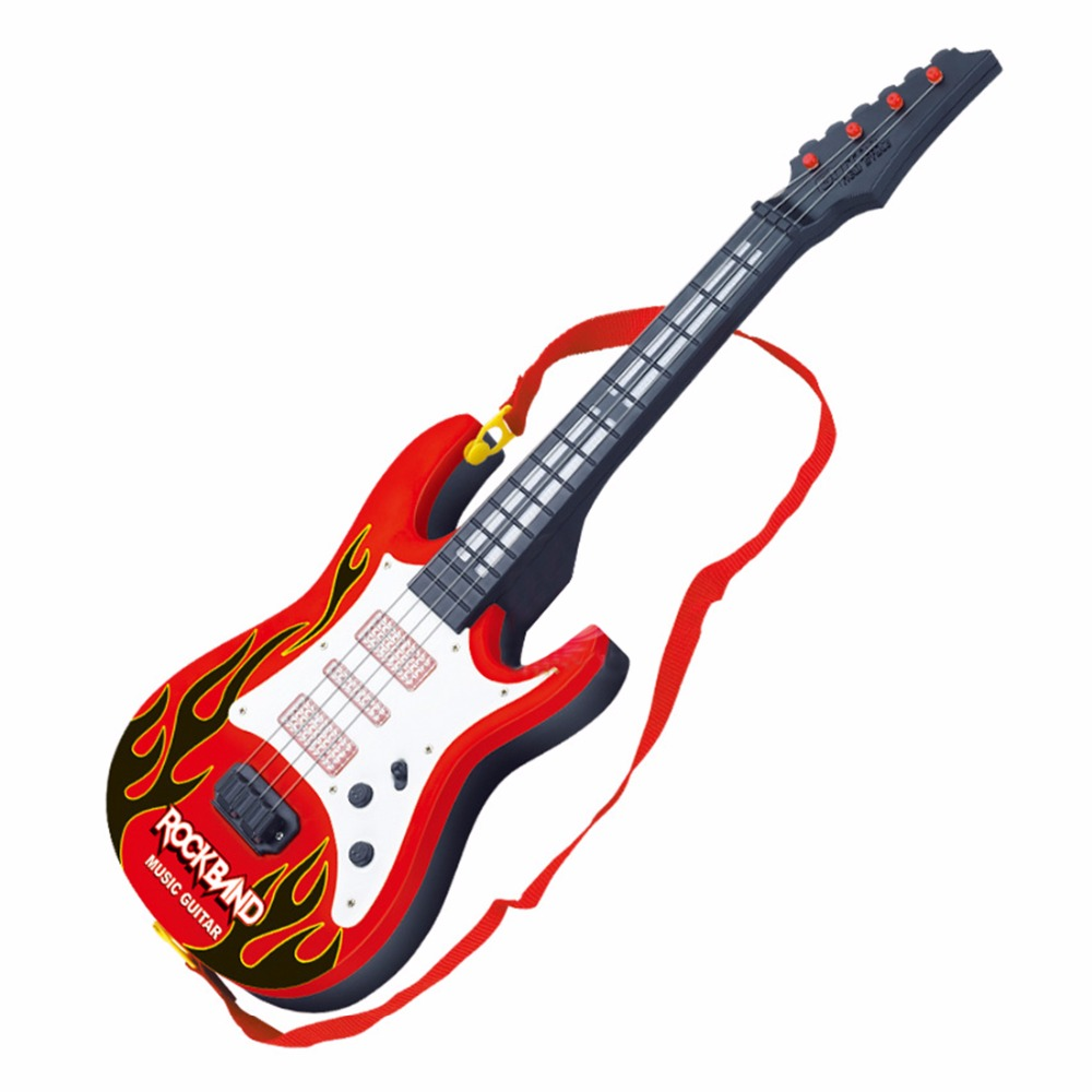 Surwish-Rock-Band-Music-Electric-Guitar-4-Strings-Kids-Musical-Instruments-Educational-Toy-3