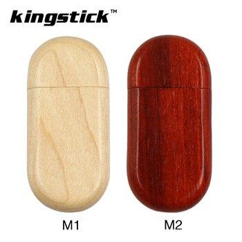 Kingstick wooden USB Flash Drive 8GB 16GB 32GB 64GB 4GB USB 2.0 Pen Drive Memory Flash usb Pendrive memory usb Stick gift