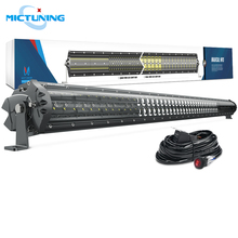 MICTUNING M1s 52 Super Bright Straight Auto Offroad LED Driving Work Light Bar 29100LM Combo Beam w/ Waterproof Wiring Harness