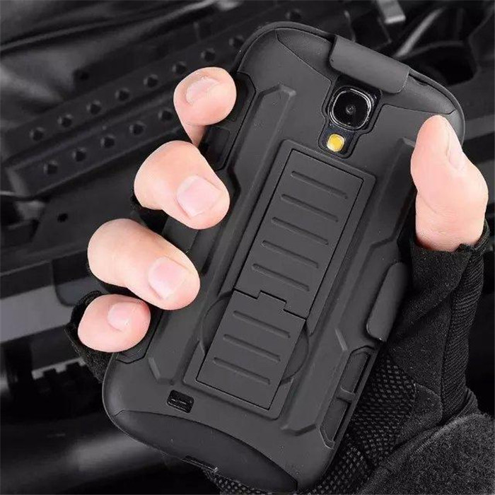 Military Future Armor Case Tough Impact Holster For Samsung Galaxy SIV S4 S IV 4 mini i9190 Hybrid Triple Full Stand Cover Cases