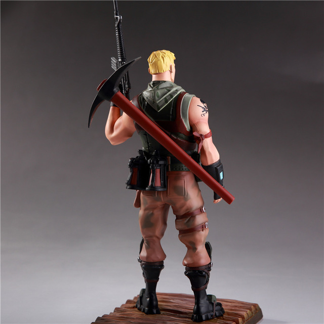 21cm Fortinet Man with Gun and Pickax Weapon Game Action Figure Model Collection for Children Fortnight Figure Toys Kids Gifts