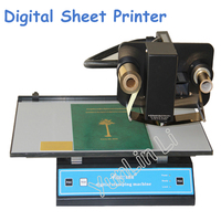 220V Hot Foil Stamping Machine Digital Foil Printer Plateless Hot Foil Printer on Plastic Leather Notebook Film Paper 3050A+