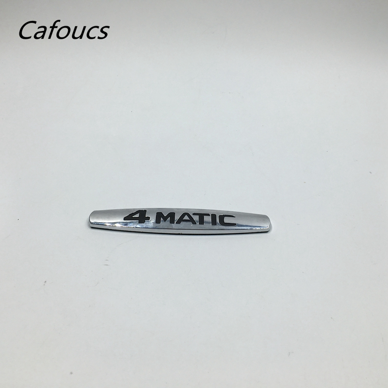 Cafoucs Chrome 4matic 4 matic Logo Rear Trunk Emblem Badge Sticker For Mercedes CLS GLA W124 W210 W251 mayitr chrome abs 4matic 4 matic logo emblem car rear trunk lid letters badge sticker decal for mercedes benz car styling