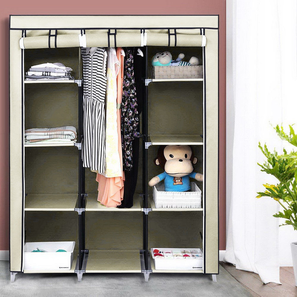 Us 19 79 4 Tiers 10 Cube Portable Wardrobe Closet Organizer Clothes Wardrobe Waterproof Fabric Storage Only Ship To Us In Wardrobes From Furniture