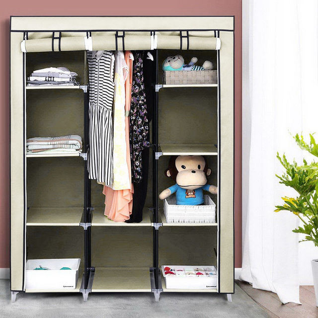 4 Tiers 10 Cube Portable Wardrobe Closet Organizer Clothes Waterproof Fabric Storage Only Ship To Us