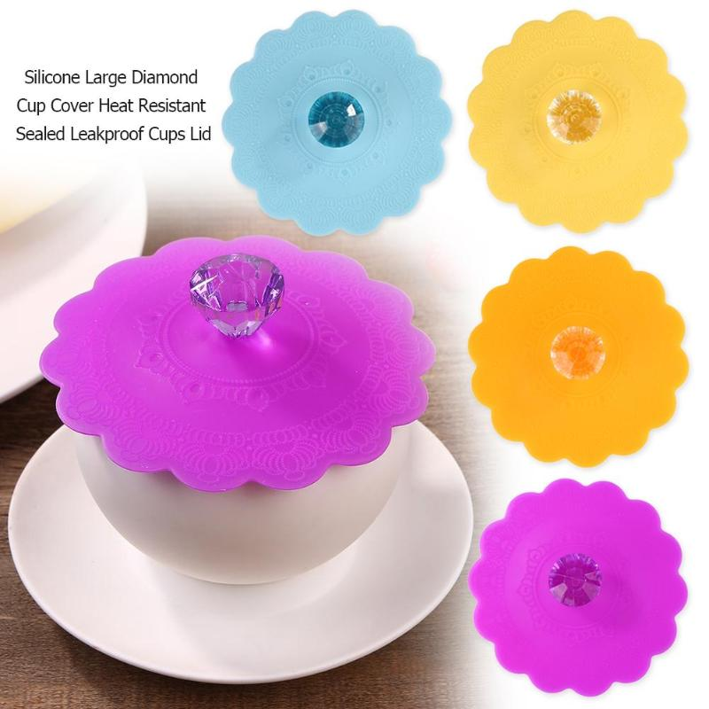 Cute Fruits Adorn Water Drinking Cup Lid  Food-grade Silicone Anti-dust  Heat-resistant Bowl Cover Cup Seals Glass Mugs Cap