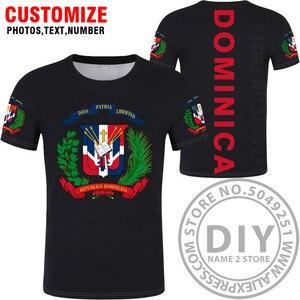 Image 3 - 도미니카 t 셔츠 로고 무료 맞춤 이름 dma 티셔츠 국가 국기 스페인어 도미니카 도미니카 공화국 인쇄 사진 의류