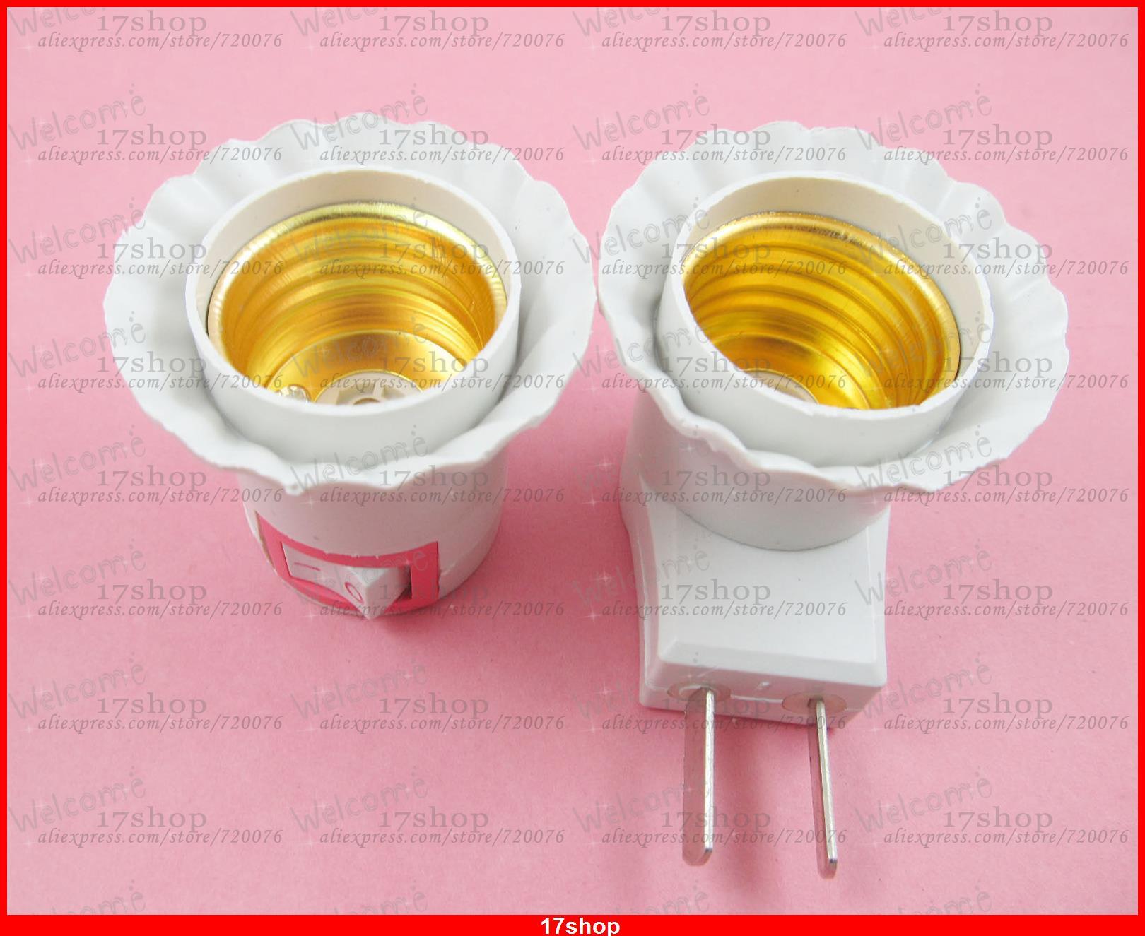20pcs x LED Light Bulb Lamp Socket Base Holder E27 to US AU Plug Adapter Converter