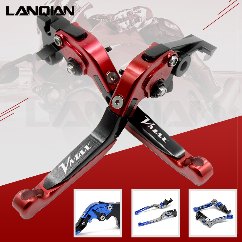 12 Colors For YAMAHA VMAX 2009-2018 CNC Motorcycle Accessories Adjustable Folding Extendable Brake Clutch Lever V-MAX for yamaha vmax v max 2009 2014 red black blue new style motor motobike motorcycle adjustable short brake clutch levers